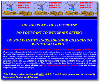 Lotto Guy website